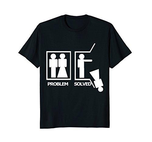Mens Problem Solved Divorced Funny Bachelor Break Up T Shirt