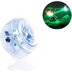 DJLOOKK LED Aquarium Light Aquarium Diving Light Bulb Waterproof Luminous Spotlights Aquarium Bubble Fish Tank Light Amphibious Diving Light,Green