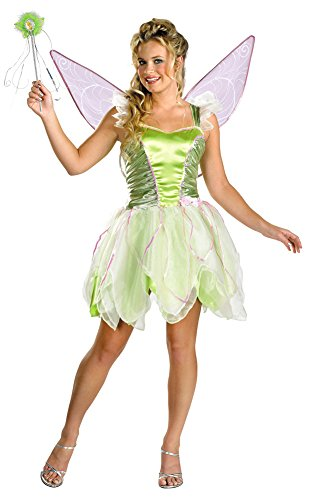 Girls - Tinker Bell Deluxe Jr 7-9 Halloween Costume - Teen 7-9