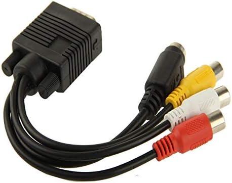 VGA接続 2オーディオケーブルとSビデオAV RCA TVのコンバータケーブルアダプタにVGA