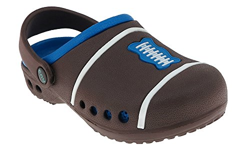 Image of Capelli New York Boys Football injected EVA two tone clog with backstrap