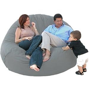 Cozy Sack 7-Feet Bean Bag Chair, X-Large, Grey