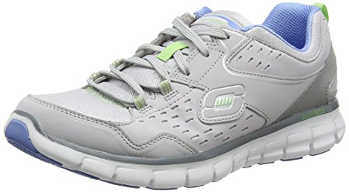 Skechers Sport Women's Synergy A Lister Fashion Sneaker Gray / Blue cheap new arrival cheap lowest price really cheap prices cheap price fS0vhagYg