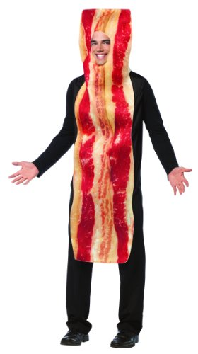 Rasta Imposta Bacon Strip Costume, Brown, One Size -