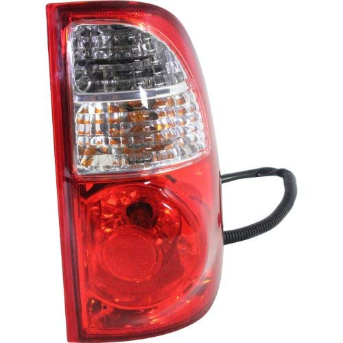 Tail Light for TOYOTA TUNDRA 2005-2006 RH Assembly Clear/Red Lens with Standard Bed Regular and Access Cab