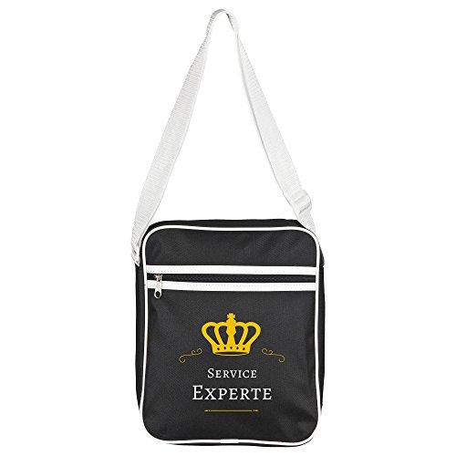 Service Retro Expert Shoulder Black Bag XwgEqFAg