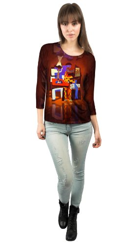 "Yizzam - Picasso - ""Three Musicians…""- New Ladies Womens 3/4 Sleeve-Large"