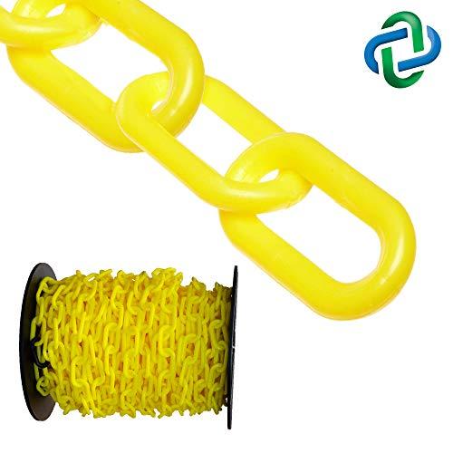 Mr Black 25-Foot Length 2-Inch Link Diameter Chain Heavy Duty Plastic Barrier Chain 51003-25