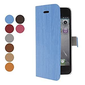 Bark Grain Full Body Case with Interior Transparent Cover for iPhone 5 (Optional Colors) ,Color Blue