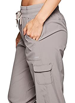 Rbx Active Women's Lightweight Body Cargo Drawstring Woven Pant Khaki M 4