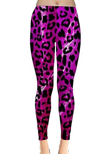 CowCow - Legging - Femme Gris gris -  Violet - Medium