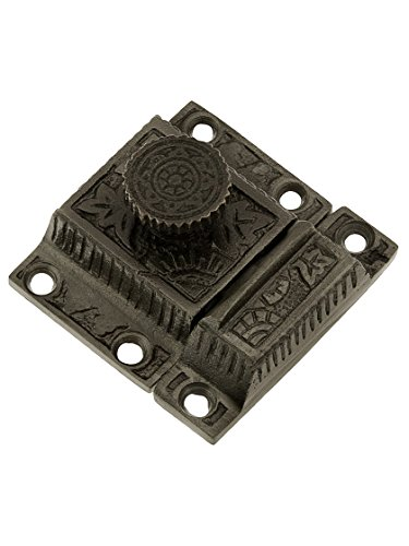 House of Antique Hardware R-08SE-0600010-AI Cast Iron Oriental Pattern Turn Latch in Antique - Iron Antique Ai Finish