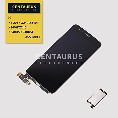 LCD Touch for LG X240 K Series K8 2017 X240F X240H X240I X240dsF 5.0 inch LCD Display Touch Screen Digitizer Glass Assembly Full Replacement Part (Black)