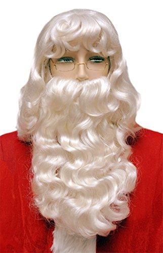 UHC Super Deluxe Santa Wig & Beard Set w/ Mustache 002 Christmas Party Accessory (Deluxe Santa Wig Super)