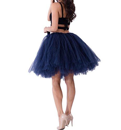 Pettiskirt Navy en Princesse au Ballet Genou couche Femme Tulle Vintage Tutu Multi Taille Haute Jupe HvvFq