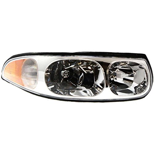 New Front Right Side Halogen Headlight Assembly For 2000-2005 Buick Lesabre Composite, w/Cornering/Marker Lamp, FWD, Limited Mod GM2503210 - Lamp Cornering Assembly
