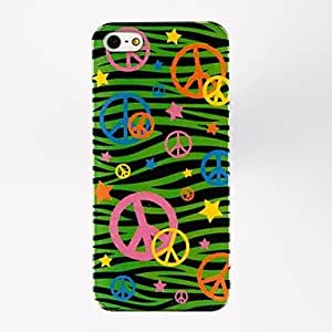 Peace Sign Pattern Plastic Hard Case for iPhone 4/4S , Multicolor