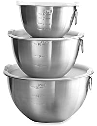 Access 3-Piece Stainless Steel Mixing Bowl Set saleoff