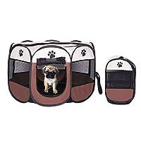 Tenda box per cagnolini cuccioli e piccoli animali rosso,Recinto per cuccioli - Grande recinto per animali da usare all'interno e all'esterno- Facile da montare