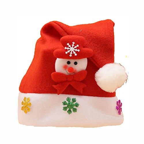 Hot Christmas Holiday Cap For Santa Claus Gifts Nonwoven Skullies Beanies Winter Keep Warm Beanie Hats For Children Kids - Fitted Versace Hat