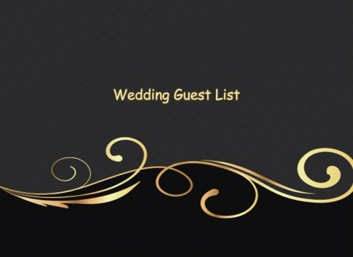 E.B.O.O.K Wedding Guest List: Portable Blank Book - List Names, Addresses and contact of People to Invite and PPT