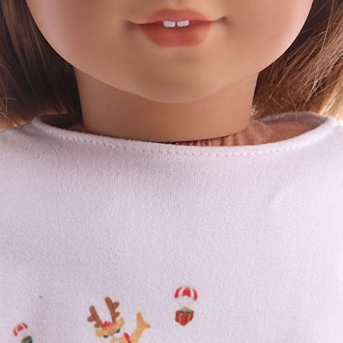 Amazon.com: LtrottedJ Chirstmas Clothes Dress Shirt for 18 Inch American Girl Doll Accessory Toy (E): Toys & Games