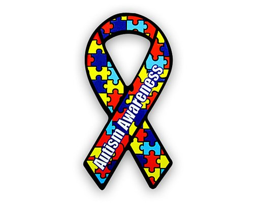 - Autism Awareness Ribbon Magnet - Large (1 Magnet - Retail)