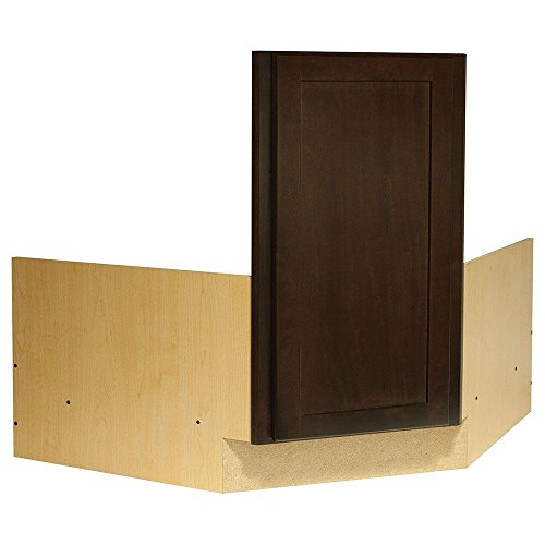 Corner Sink Base Cabinet - 36x34.5x24 in. Shaker Corner Sink Base Cabinet in Java
