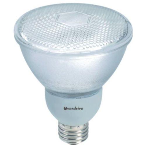 Overdrive 091, (12-Pack), 50-Watts Equivalent Incandescent, 15W PAR30 Reflector Compact Fluorescent Light Bulb, 80 CRI, (Daylight) Full Spectrum