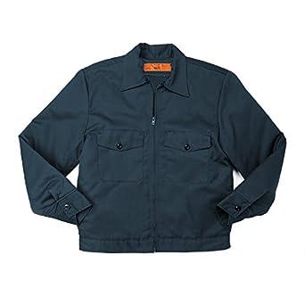 Flap Pocket-3X-Large-Navy Blue IKE Jacket 65//35 Polyester//Cotton Pinnacle Textile JL10 7.5 OZ Twill