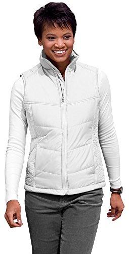 Port Authority Ladies Puffy Vest, White/Dark Slate, XXX-Large ()
