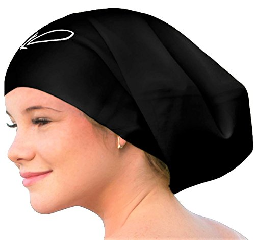 Lahtak ™ Extra Large Swimming Cap - Stylish, Waterproof Silicone Swim Hat (Slip Wrinkle Free Cap)