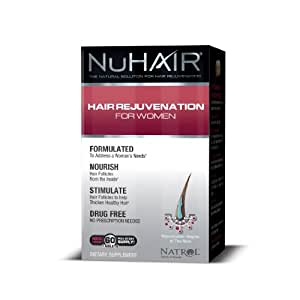 NuHair Hair Regrowth for Women Tablets, 60 Count