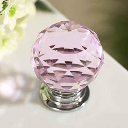 Marvelous Revesun 4PCS/LOT 30mm Pink Crystal Glass Door Knobs Cabinet Pulls Cupboard  Handles Drawer Knobs