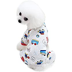 Scheppend Cozy Pet Pajamas shirt for Small Dogs Thick Onesie Jumpsuits Soft Puppy Coat Cat Clothes