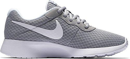 Nike Womens Tanjun Running Sneaker Wolf Grey/White 10