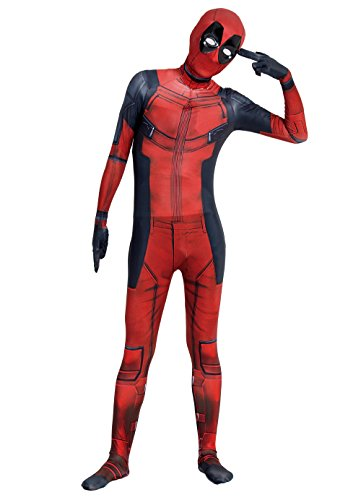 (Angelaicos Unisex Black Red Bodysuit Costume (M, Only)