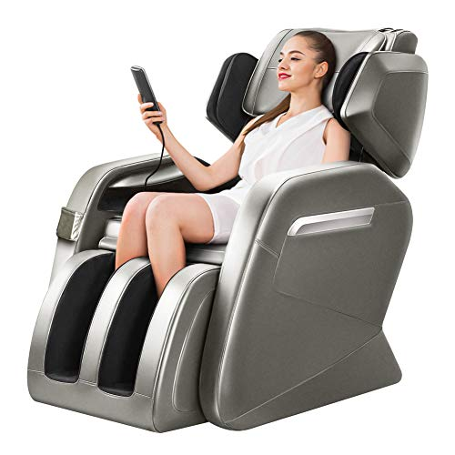 KTN Massage Chairs, Zero Gravity Massage Chair, Full Body Massage Chair with Lower-Back Heating, Seat Vibration and Foot Roller Coffee
