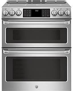 GE Cafe CHS995SELSS 30 Inch Slide In Electric Range With Smoothtop Cooktop,  2.3 Cu