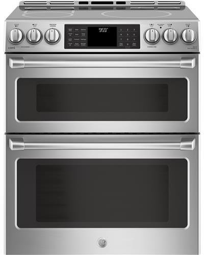 GE Cafe CHS995SELSS 30 Inch Slide-in Electric Range with Smoothtop Cooktop, 2.3 cu. ft. Primary Oven Capacity in Stainless Steel
