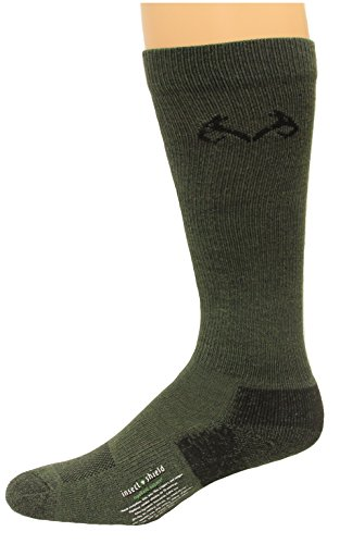 Realtree Men's Insect Shield Over The Calf Socks, Olive, Medium (Buzz Off Apparel)