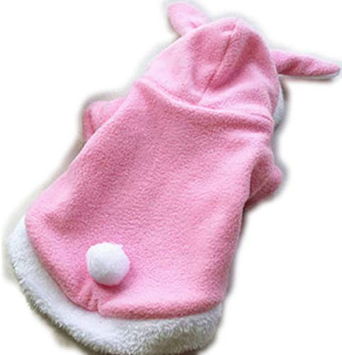 Dog Like Cute Cat Clothes Easter Rabbit Animals Suit for CatsFleece Warm Pet Cat Clothes,Pink Bunny,XS]()