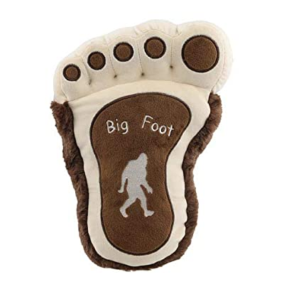 Rustic Axentz Big Foot Paw Print Throw Pillow Plush, Collectible Stuffed Toy, 12-inch, Tan Brown Beige: Home & Kitchen