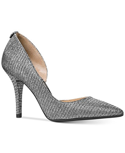 Mesh Ladies Pumps - MICHAEL Michael Kors Women's Nathalie Flex High Pump Black/Silver Glitter Chain Mesh D'Orsay 9.5 M