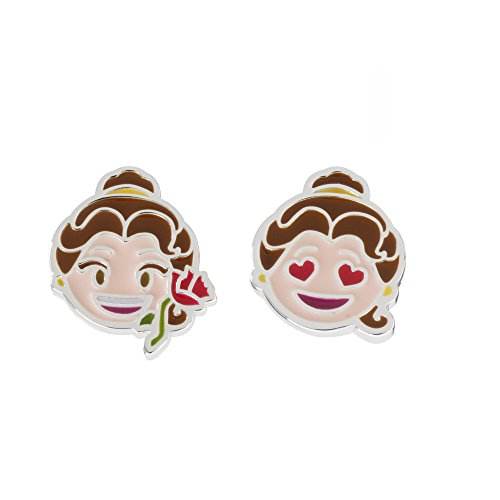 Disney Women's and Girls Jewelry Beauty and the Beast Silver Plated Mix Match Stud Earrings by Disney