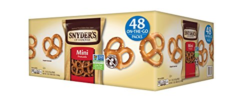 Snyder's of Hanover Mini Pretzels  48-count, 1.5 Ounce each