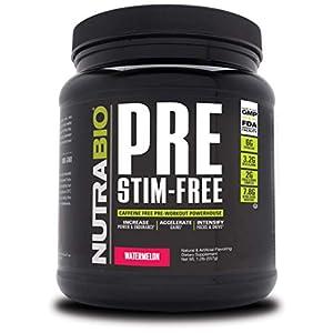NutraBio PRE Stim Free – Caffeine Free Pre Workout (Watermelon)