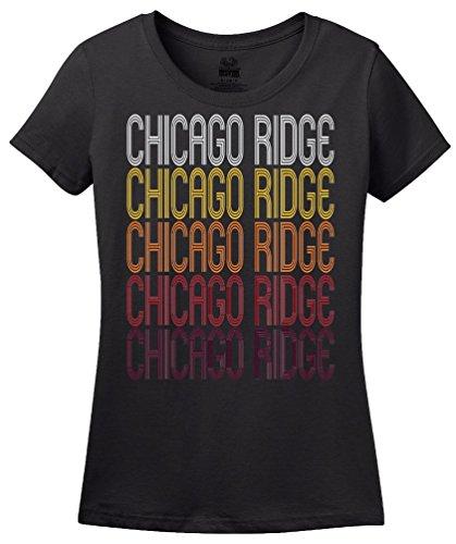 Chicago Ridge, IL | Retro, Vintage Style Illinois Pride - Chicago Ridge