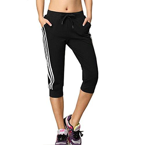DOXUNGO pantalon décontracté, pantalon 3/4-longueur, pantalons de fitness, pantalons minces, pantalons de yoga pantalons d'été Pilates