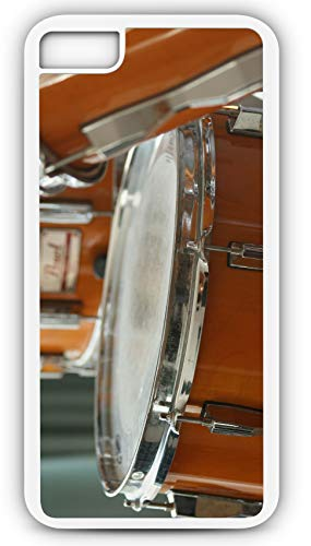 iPhone 7 Plus 7+ Case Snare Drum Percussion Instrument Marching Band Customizable by TYD Designs in White Plastic Black Rubber Tough Case